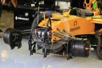 World © Octane Photographic Ltd. Renault Sport F1 Team RS16 - Front hydraulics. Friday 25th November 2016, F1 Abu Dhabi GP - Practice 1, Yas Marina circuit, Abu Dhabi. Digital Ref :