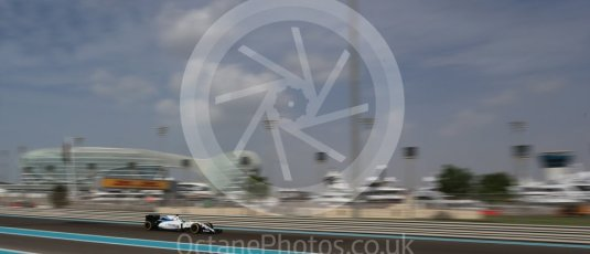 World © Octane Photographic Ltd. Williams Martini Racing, Williams Mercedes FW38 – Felipe Massa. Friday 25th November 2016, F1 Abu Dhabi GP - Practice 1, Yas Marina circuit, Abu Dhabi. Digital Ref : 1756LB2D7174