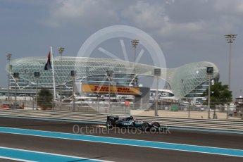 World © Octane Photographic Ltd. Mercedes AMG Petronas W07 Hybrid – Lewis Hamilton. Friday 25th November 2016, F1 Abu Dhabi GP - Practice 1. Yas Marina circuit, Abu Dhabi. Digital Ref : 1756LB2D7219