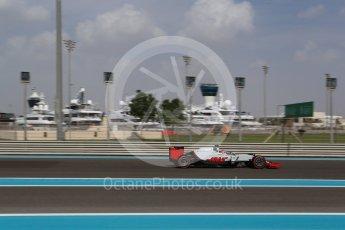 World © Octane Photographic Ltd. Haas F1 Team VF-16 – Romain Grosjean. Friday 25th November 2016, F1 Abu Dhabi GP - Practice 1, Yas Marina circuit, Abu Dhabi. Digital Ref : 1756LB2D7251