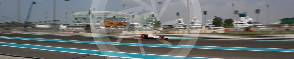 World © Octane Photographic Ltd. Haas F1 Team VF-16 – Romain Grosjean. Friday 25th November 2016, F1 Abu Dhabi GP - Practice 1, Yas Marina circuit, Abu Dhabi. Digital Ref : 1756LB2D7303