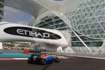 World © Octane Photographic Ltd. Manor Racing MRT05 – Esteban Ocon. Friday 25th November 2016, F1 Abu Dhabi GP - Practice 1, Yas Marina circuit, Abu Dhabi. Digital Ref : 1756LB2D7326