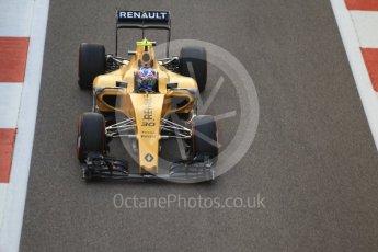 World © Octane Photographic Ltd. Renault Sport F1 Team RS16 – Jolyon Palmer. Friday 25th November 2016, F1 Abu Dhabi GP - Practice 2, Yas Marina circuit, Abu Dhabi. Digital Ref :