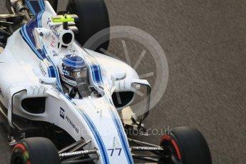 World © Octane Photographic Ltd. Williams Martini Racing, Williams Mercedes FW38 – Valtteri Bottas. Friday 25th November 2016, F1 Abu Dhabi GP - Practice 2, Yas Marina circuit, Abu Dhabi. Digital Ref :