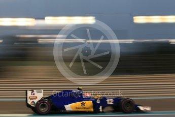 World © Octane Photographic Ltd. Sauber F1 Team C35 – Felipe Nasr. Friday 25th November 2016, F1 Abu Dhabi GP - Practice 2, Yas Marina circuit, Abu Dhabi. Digital Ref :