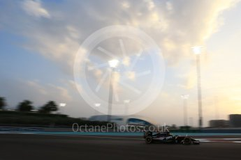 World © Octane Photographic Ltd. Sahara Force India VJM09 - Sergio Perez. Friday 25th November 2016, F1 Abu Dhabi GP - Practice 2, Yas Marina circuit, Abu Dhabi. Digital Ref :