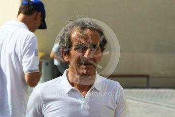 World © Octane Photographic Ltd. Alain Prost. Saturday 26th November 2016, F1 Abu Dhabi GP - Practice 3, Yas Marina circuit, Abu Dhabi. Digital Ref :