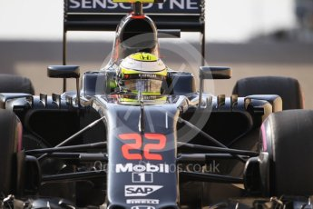 World © Octane Photographic Ltd. McLaren Honda MP4-31 – Jenson Button. Saturday 26th November 2016, F1 Abu Dhabi GP - Practice 3, Yas Marina circuit, Abu Dhabi. Digital Ref :
