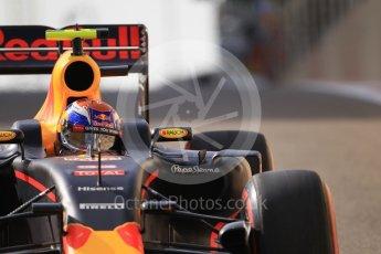 World © Octane Photographic Ltd. Red Bull Racing RB12 – Max Verstappen. Saturday 26th November 2016, F1 Abu Dhabi GP - Practice 3, Yas Marina circuit, Abu Dhabi. Digital Ref :