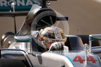 World © Octane Photographic Ltd. Mercedes AMG Petronas W07 Hybrid – Lewis Hamilton. Saturday 26th November 2016, F1 Abu Dhabi GP - Practice 3. Yas Marina circuit, Abu Dhabi. Digital Ref :