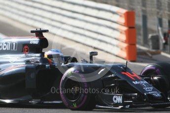 World © Octane Photographic Ltd. McLaren Honda MP4-31 – Fernando Alonso. Saturday 26th November 2016, F1 Abu Dhabi GP - Practice 3, Yas Marina circuit, Abu Dhabi. Digital Ref :