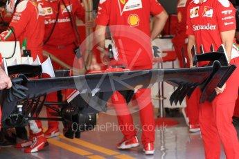 World © Octane Photographic Ltd. Scuderia Ferrari SF16-H – Front wing underside. Saturday 26th November 2016, F1 Abu Dhabi GP - Practice 3, Yas Marina circuit, Abu Dhabi. Digital Ref :
