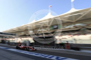 World © Octane Photographic Ltd. Scuderia Ferrari SF16-H – Kimi Raikkonen. Saturday 26th November 2016, F1 Abu Dhabi GP - Practice 3, Yas Marina circuit, Abu Dhabi. Digital Ref :