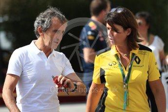World © Octane Photographic Ltd. Alain Prost. Saturday 26th November 2016, F1 Abu Dhabi GP - Paddock, Yas Marina circuit, Abu Dhabi. Digital Ref : 1764LB1D0152