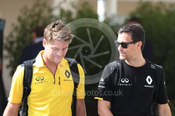 World © Octane Photographic Ltd. Renault Sport F1 Team RS16 – Jolyon Palmer. Saturday 26th November 2016, F1 Abu Dhabi GP - Paddock, Yas Marina circuit, Abu Dhabi. Digital Ref : 1764LB1D0245