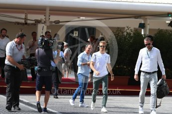 World © Octane Photographic Ltd. Mercedes AMG Petronas W07 Hybrid – Nico Rosberg. Saturday 26th November 2016, F1 Abu Dhabi GP - Paddock. Yas Marina circuit, Abu Dhabi. Digital Ref : 1764LB1D0261