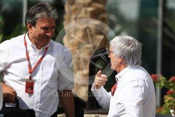 World © Octane Photographic Ltd. Bernie Ecclestone arrives to circuit. Saturday 26th November 2016, F1 Abu Dhabi GP - Paddock, Yas Marina circuit, Abu Dhabi. Digital Ref : 1764LB1D9447