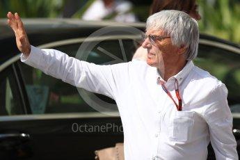World © Octane Photographic Ltd. Bernie Ecclestone arrives to circuit. Saturday 26th November 2016, F1 Abu Dhabi GP - Paddock, Yas Marina circuit, Abu Dhabi. Digital Ref : 1764LB1D9486