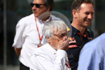 World © Octane Photographic Ltd. Bernie Ecclestone and Christian Horner - Red Bull Racing. Saturday 26th November 2016, F1 Abu Dhabi GP - Paddock, Yas Marina circuit, Abu Dhabi. Digital Ref : 1764LB1D9568
