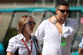 World © Octane Photographic Ltd. Claire Williams - deputy team principal of the Williams Formula One racing team. Saturday 26th November 2016, F1 Abu Dhabi GP - Paddock, Yas Marina circuit, Abu Dhabi. Digital Ref : 1764LB1D9674