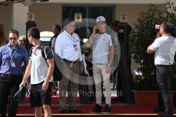 World © Octane Photographic Ltd. Haas F1 Team VF-16 - Esteban Gutierrez. Saturday 26th November 2016, F1 Abu Dhabi GP - Paddock, Yas Marina circuit, Abu Dhabi. Digital Ref : 1764LB1D9688