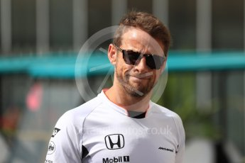 World © Octane Photographic Ltd. McLaren Honda MP4-31 – Jenson Button. Saturday 26th November 2016, F1 Abu Dhabi GP - Paddock, Yas Marina circuit, Abu Dhabi. Digital Ref : 1764LB1D9765