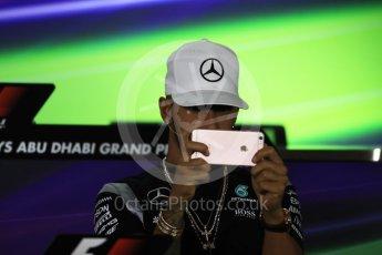 World © Octane Photographic Ltd. F1 FIA Driver Press Conference part2, Yas Marina circuit, Abu Dhabi. Thursday 24th November 2016. Mercedes AMG Petronas – Lewis Hamilton. Digital Ref :