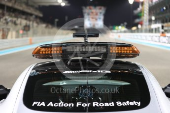 World © Octane Photographic Ltd. Saturday 26th November 2016, F1 Abu Dhabi GP2 Race - Grid, Yas Marina circuit, Abu Dhabi. Mercedes AMG GTs Safety Car on the grid. Digital Ref :