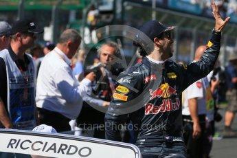 World © Octane Photographic Ltd. Red Bull Racing – Daniel Ricciardo. Sunday 20th March 2016, F1 Australian GP - Drivers Parade, Melbourne, Albert Park, Australia. Digital Ref : 1523LB1D6271