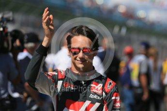 World © Octane Photographic Ltd. Haas F1 Team - Esteban Gutierrez. Sunday 20th March 2016, F1 Australian GP - Drivers Parade, Melbourne, Albert Park, Australia. Digital Ref : 1523LB1D6443