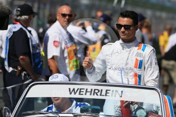 World © Octane Photographic Ltd. Manor Racing - Pascal Wehrlein. Sunday 20th March 2016, F1 Australian GP - Drivers Parade, Melbourne, Albert Park, Australia. Digital Ref : 1523LB1D6469