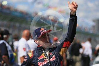 World © Octane Photographic Ltd. Scuderia Toro Rosso – Max Verstappen Sunday 20th March 2016, F1 Australian GP - Drivers Parade, Melbourne, Albert Park, Australia. Digital Ref : 1523LB1D6482