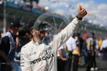 World © Octane Photographic Ltd. Mercedes AMG Petronas – Lewis Hamilton. Sunday 20th March 2016, F1 Australian GP - Drivers Parade, Melbourne, Albert Park, Australia. Digital Ref : 1523LB1D6498