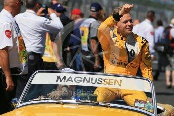 World © Octane Photographic Ltd. Renault Sport F1 Team - Kevin Magnussen. Sunday 20th March 2016, F1 Australian GP - Drivers Parade, Melbourne, Albert Park, Australia. Digital Ref : 1523LB1D6507