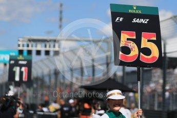 World © Octane Photographic Ltd. Scuderia Toro Rosso – Carlos Sainz. Sunday 20th March 2016, F1 Australian GP - Grid, Melbourne, Albert Park, Australia. Digital Ref : 1523LB1D6609
