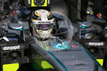 World © Octane Photographic Ltd. Mercedes AMG Petronas – Lewis Hamilton. Sunday 20th March 2016, F1 Australian GP - Grid, Melbourne, Albert Park, Australia. Digital Ref : 1523LB1D6725