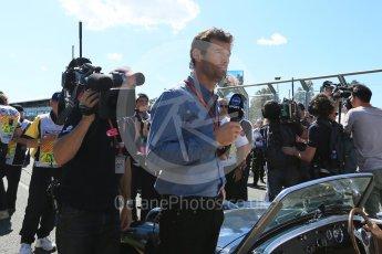 World © Octane Photographic Ltd. Mark Webber. Sunday 20th March 2016, F1 Australian GP - Grid, Melbourne, Albert Park, Australia. Digital Ref : 1523LB5D2029