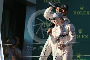 World © Octane Photographic Ltd. Mercedes AMG Petronas – Nico Rosberg. Sunday 20th March 2016, F1 Australian GP Race - Podium, Melbourne, Albert Park, Australia. Digital Ref : 1525LB1D8166