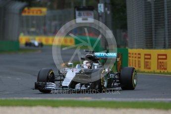 World © Octane Photographic Ltd. Mercedes AMG Petronas W07 Hybrid – Lewis Hamilton. Friday 18th March 2016, F1 Australian GP Practice 1, Melbourne, Albert Park, Australia. Digital Ref : 1516LB1D2347