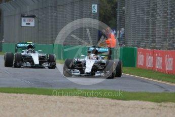 World © Octane Photographic Ltd. Mercedes AMG Petronas W07 Hybrid – Lewis Hamilton. Friday 18th March 2016, F1 Australian GP Practice 1, Melbourne, Albert Park, Australia. Digital Ref : 1516LB1D2915