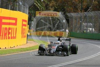 World © Octane Photographic Ltd. McLaren Honda MP4-31 – Fernando Alonso. Friday 18th March 2016, F1 Australian GP Practice 1, Melbourne, Albert Park, Australia. Digital Ref : 1516LB5D1185