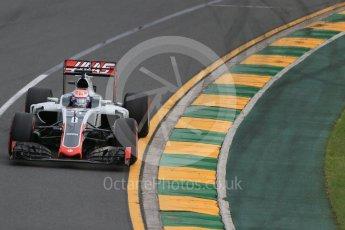 World © Octane Photographic Ltd. Haas F1 Team VF-16 – Romain Grosjean. Saturday 19th March 2016, F1 Australian GP Qualifying, Melbourne, Albert Park, Australia. Digital Ref : 1521LB1D5067