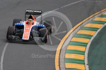 World © Octane Photographic Ltd. Manor Racing MRT05 - Pascal Wehrlein. Saturday 19th March 2016, F1 Australian GP Qualifying, Melbourne, Albert Park, Australia. 1521LB1D5097