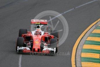 World © Octane Photographic Ltd. Scuderia Ferrari SF16-H – Kimi Raikkonen. Saturday 19th March 2016, F1 Australian GP Qualifying, Melbourne, Albert Park, Australia. Digital Ref : 1521LB1D5131