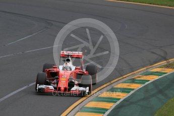 World © Octane Photographic Ltd. Scuderia Ferrari SF16-H – Sebastian Vettel. Saturday 19th March 2016, F1 Australian GP Qualifying, Melbourne, Albert Park, Australia. Digital Ref : 1521LB1D5179
