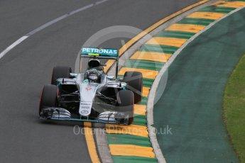 World © Octane Photographic Ltd. Mercedes AMG Petronas W07 Hybrid – Nico Rosberg. Saturday 19th March 2016, F1 Australian GP Qualifying, Melbourne, Albert Park, Australia. Digital Ref : 1521LB1D5265