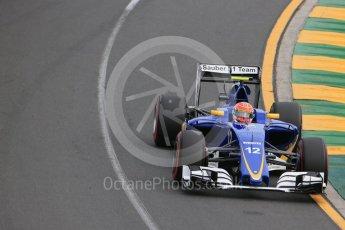 World © Octane Photographic Ltd. Sauber F1 Team C35 – Felipe Nasr. Saturday 19th March 2016, F1 Australian GP Qualifying, Melbourne, Albert Park, Australia. Digital Ref : 1521LB1D5296