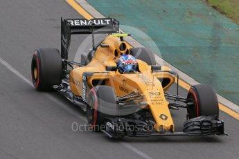 World © Octane Photographic Ltd. Renault Sport F1 Team RS16 – Jolyon Palmer. Saturday 19th March 2016, F1 Australian GP Qualifying, Melbourne, Albert Park, Australia. Digital Ref : 1521LB1D5472
