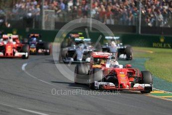 World © Octane Photographic Ltd. Scuderia Ferrari SF16-H – Sebastian Vettel. Sunday 20th March 2016, F1 Australian GP Race, Melbourne, Albert Park, Australia. Digital Ref : 1524LB1D6944