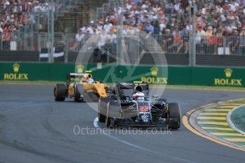 World © Octane Photographic Ltd. McLaren Honda MP4-31 – Jenson Button. Sunday 20th March 2016, F1 Australian GP Race, Melbourne, Albert Park, Australia. Digital Ref : 1524LB1D7055